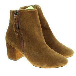SPLENDID Suede Leather Block Heel Ankle Boots